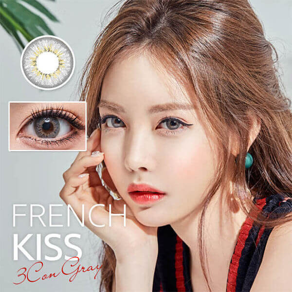 Olens French Kiss Gray (Monthly x 2 pieces) - iEyeBeauty
